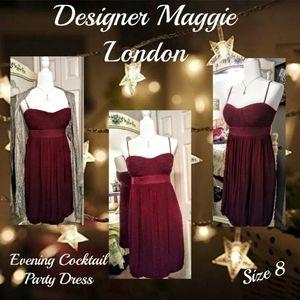 😍 Silk Maggy London Evening Dress sz 8
